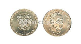 Panama 20 Balboas, 1974, Simon Bolivar 1783 1830