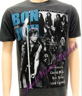 Bon Jovi American Metal Rock Vtg Women Men T shirt Sz M