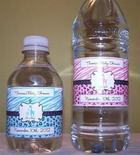 50 Water Bottle Labels Favors Personalized Baby Shower Water Proof