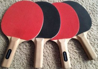 Harvard Ping Pong Set   4 Rackets, 60 Inch Net, 6 Sportcraft Balls