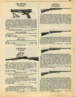 1941 Benjamin Air Pistol Crosman Air Rifle BB Gun ad