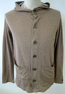 OBEY CLOTHING BOWEN MENS HOODED CARDIGAN LIGHT WEIGHT FLEECE JACKET