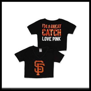 Victorias Secret San Francisco Giants Bling Crop Tee Size M NWT