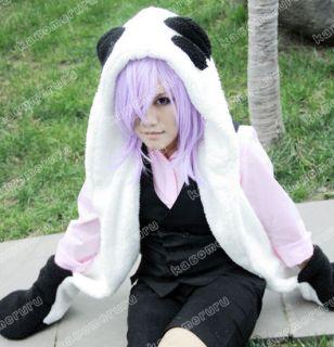 Un Go Inga Brack Cosplay Costume   (Panda Plush Hat with Gloves