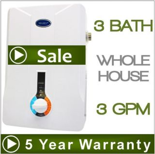 Tankless Hot Water Heater   Electric Instant On Demand   3 GPM Marey