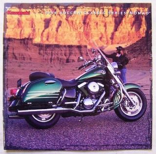 1999 Kawaski Vulcan Classic Series Motorcycle Dealer Sales Brochure