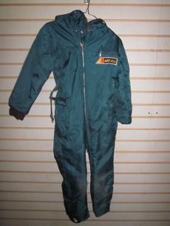 Vintage early mid 70s Ski Doo Bombardier Snowmobile Suit Youth Size 10