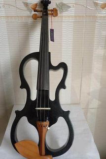 SIZE 4/4 Powerful Sound silent SOLID WOOD electric violin bow/case BOX