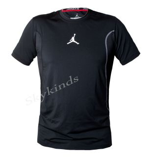 Nike Jordan Get Ready Fitted Mens Training Track Field Shirt Black