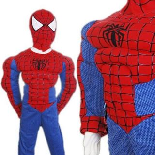 KD152 Halloween Spiderman Musele Boy Outfits Costume