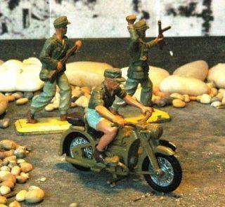 BRITAINS Vintage WWII German Afrika Korps Dispatch MC +