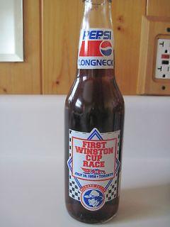 Pepsi Glass Bottle Longneck NASCAR Richard Petty Most Popular Driver