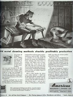 1947 old magazine print AD~AMERICAN WHEELABRATOR~Armour Suit~BROUWER