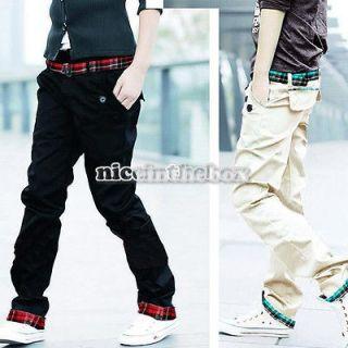 New Fashion Men Stylish Designed Straight Slim Trousers Casual Pants 2