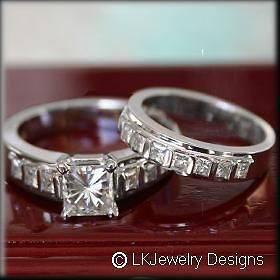 moissanite wedding sets in Engagement Rings