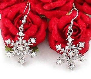 Bridesmaid Bridal Wedding Dangle Earring Clear Crystal Fashion Jewelry