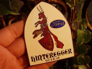 FORD   hot rod ratrod drag   vintage enamel Badge