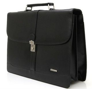 New Genuine Cow Leather Briefcase tendy bag laptop carrier shoulder