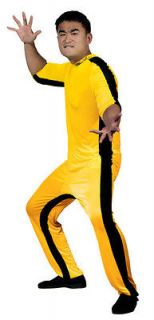 Bruce Lee Game Of Death Yellow Jumpsuit Costume Adult *New*