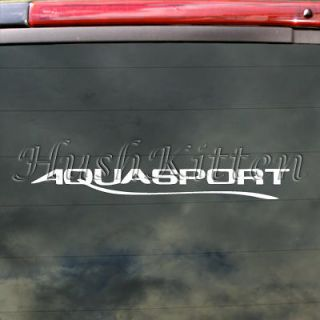 Aquasport Decal Boat Car Truck Bumper Window Sticker