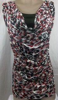 Womens Plus Size Clothing Brittany Black 1X 2X 3X Drape Tank Top Shirt