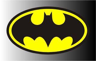 Batman Classic Logo Yellow & Black Bumper Sticker Decal