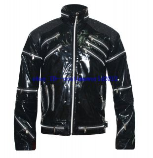 MICHAEL JACKSON BEAT IT BLACK PU LEATHER JACKET PARTY DRESS   Pro