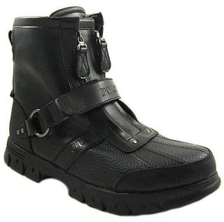 Slightly Used Polo Ralph Lauren Mens Conquest High II Black Boot US