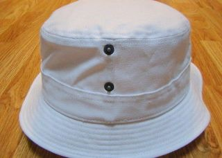 Kangol Headwear Mens Canvas LaHinch Bucket Hat Color White