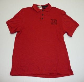Buffalo David Bitton Mens Size Large or Extra Large Red Polo Shirt NEW