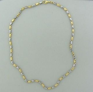 BVLGARI BULGARI 18K YELLOW GOLD STEEL NECKLACE