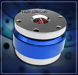 UNIVERSAL STEERING WHEEL QUICK RELEASE HUB ADAPTER KIT BLUE CHEVY
