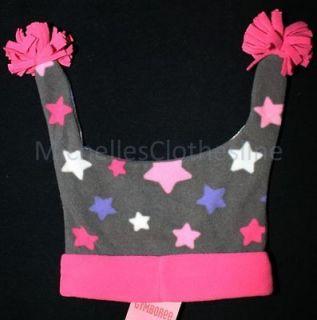 Gymboree SUPER STAR Girls Gray/Pink Fleece Jester Hat 3 4 Years 3T 4T