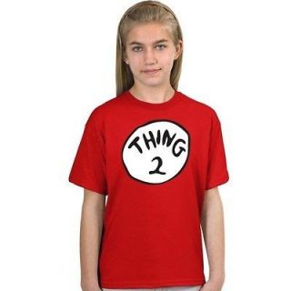 THING 2 DR. SEUSS book TEE T SHIRT TWO YOUTH SIZES XS L