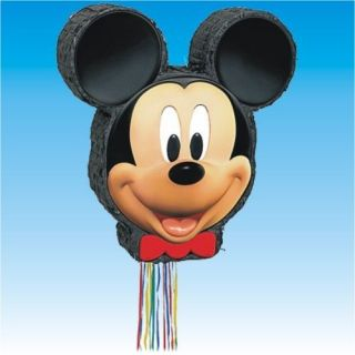 Disney Mickey Mouse Head Clubhouse PULL Pinata Party