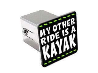 My Other Ride Is A Kayak 2 Chrome Tow Trailer Hitch Cover Plug Insert