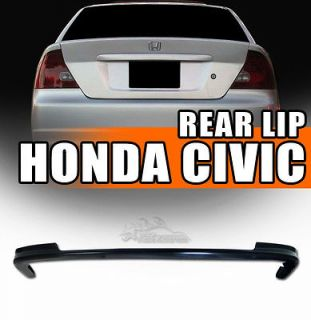 Type T R Style ABS Rear Bumper Lip Spoiler (Fits: Honda Civic EX 2001