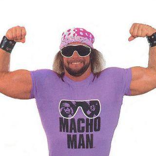 Macho Man RIP t shirt vintage style wwf randy savage M