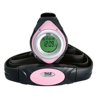 PHRM38PN LED Heart Rate Monitor Sports Watch w/ Calorie Counter Pink