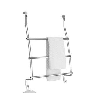 Over the Door Steel Chrome Towel Rack Conveniently Store Towels