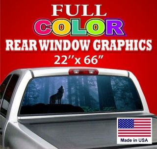 CAR TRUCK Rear Window GraphicVinyl Decal Tint Sign   Wolf Dodge Ford