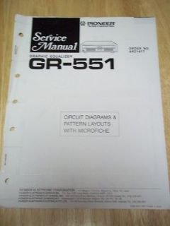 Service Manual~GR 551 Graphic Equalizer~Orig​inal~Repair~w/​fiche