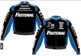 2012 Carl Edwards Fastenal Tools Blue Black NASCAR Racing Jacket Coat
