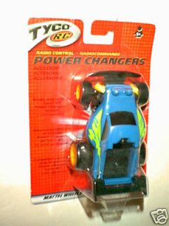 TYCO R/C ~  BLUE RACE CAR    POWER CHANGERS