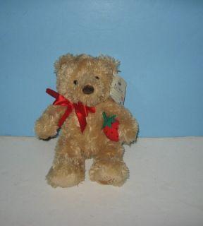 New Gund 10 Edible Arrangements Strawberry Teddy Bear Stuffed Plush w