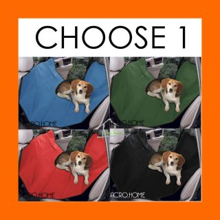 CAR REAR BACK SEAT RED COVER PROTECTOR Pet Dog Cat HAMMOCK Mattress
