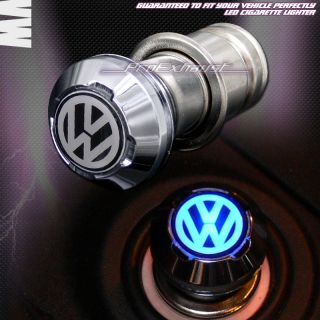 12V CAR POWER ADAPTER 18mm BLUE LED CIGARETTE LIGHTER VW JETTA PASSAT