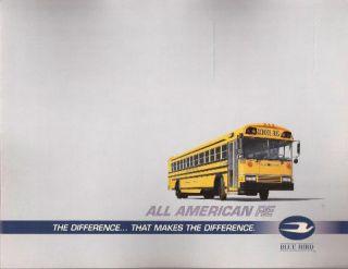 1992 92 Blue Bird Bus All American RE Sales brochure