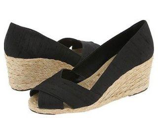 Lauren Ralph Lauren Cecilia Womens Black Wedge Dress Sandals Medium