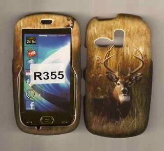 CAMO HUNTING RUBBERIZED SCH R355C SAMSUNG STRAIGHT TALK PHONE CASE